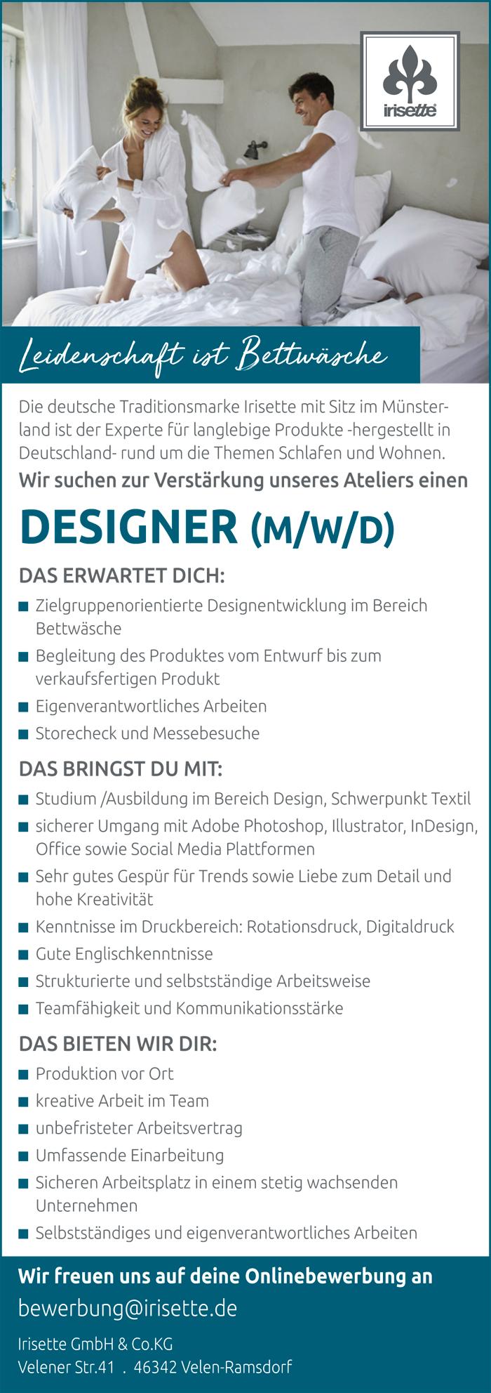 Stellenanzeige_Irisette_Designer_traumjob-2020_700