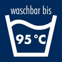 waschbar bis 95°C