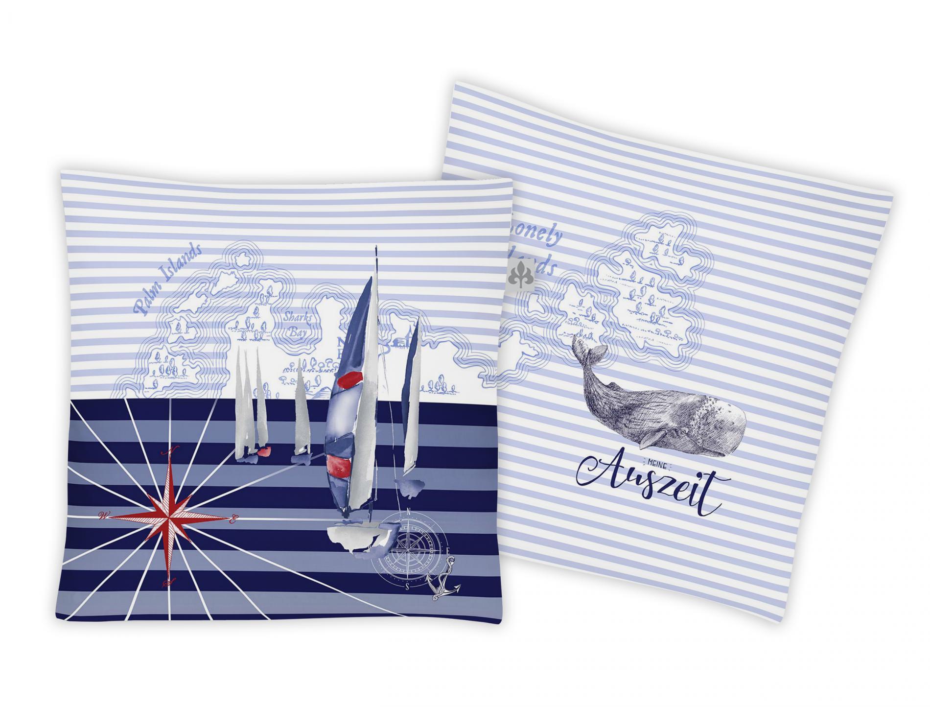 Textilfaser Dekokissen Marina Jolly-Set 8925-20