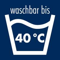 waschbar bis 40°C