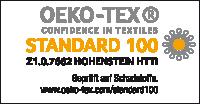 nach Öko-Tex Standard 100 zertifiziert - Prüfnummer Z1.0.7662